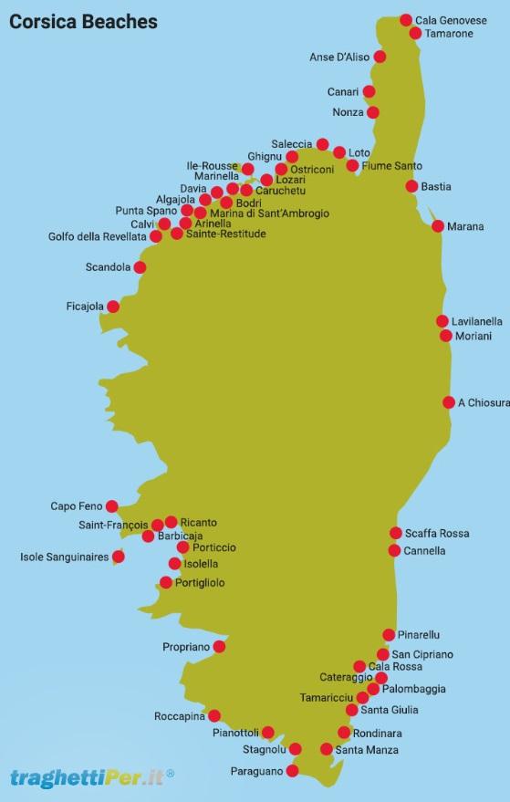 Nejlepší pláže na Korsice