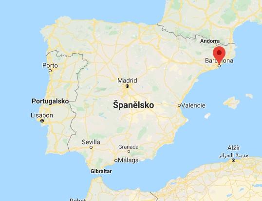 Poloha Barcelony kde leží na mapě Španělska